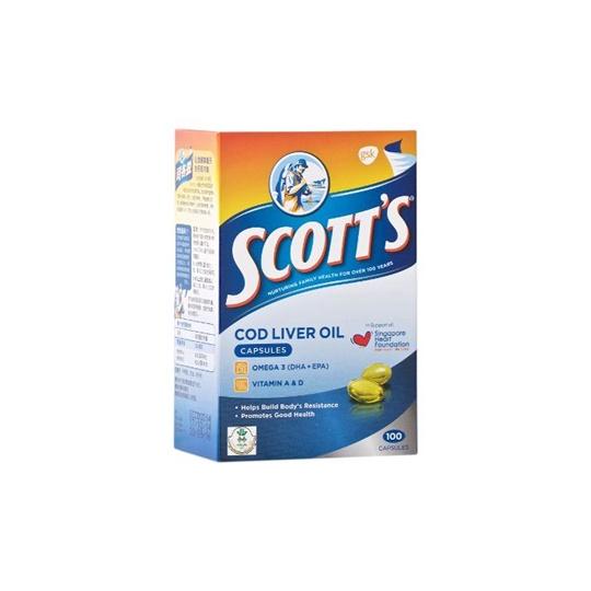 SCOTT COD LIVER OIL 100 KAPSUL