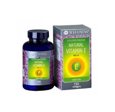 WELLNESS NATURAL VITAMIN E 400 I.U 150'S