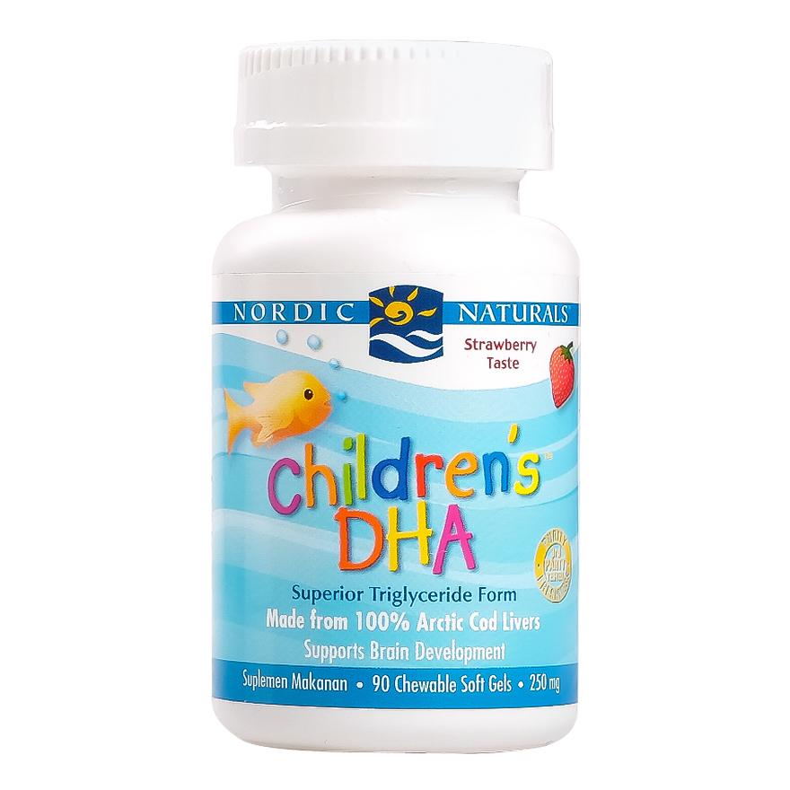 NORDIC CHILD DHA STRAWBERRY SOFT GEL 90'S