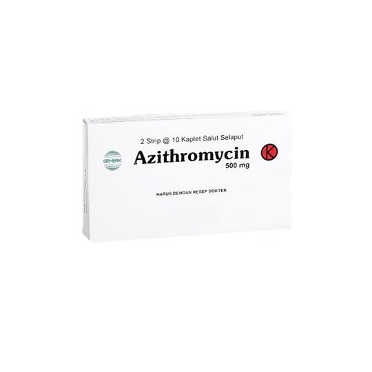 AZITHROMYCIN 500 MG 10 TABLET