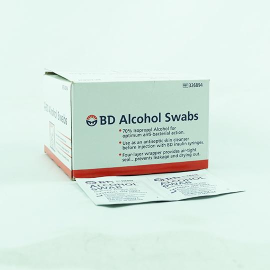 ALKOHOL BD SWAB 2'S