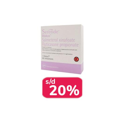 SERETIDE INHALER DISKUS 100 2 BOX - OBAT RUTIN