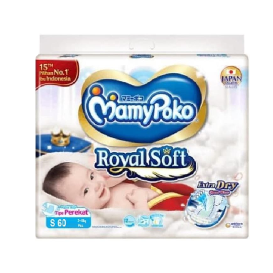 Mamy Poko Royal Soft Tipe Perekat S 60 Pieces
