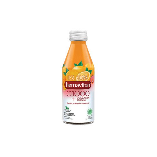 HEMAVITON C 1000 + COLLAGEN 1000 MG LESS SUGAR ORANGE 150 ML