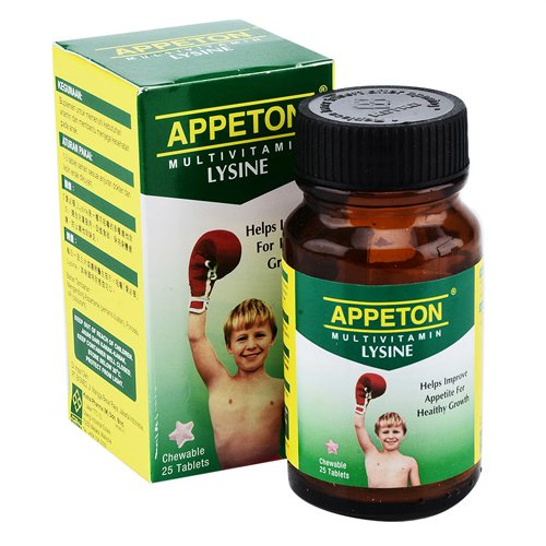 APPETON MULTIVITAMIN WITH LYSINE 25 TABLET