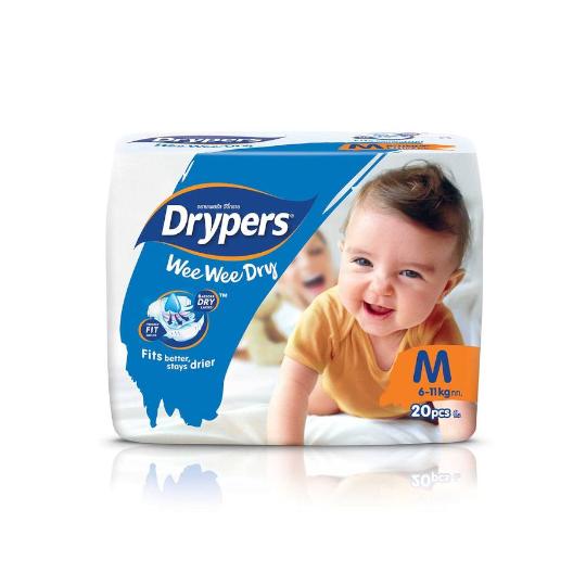 Drypers Wee Wee Dry M 20 Pads