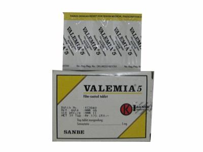 VALEMIA 5 MG 6 TABLET