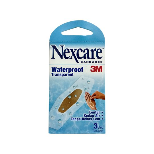 NEXCARE WATERPROOF TRANSPARENT 3'S