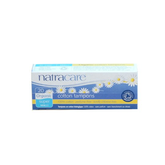 NATRACARE TAMPONS ORGANIC SUPER 20 PADS
