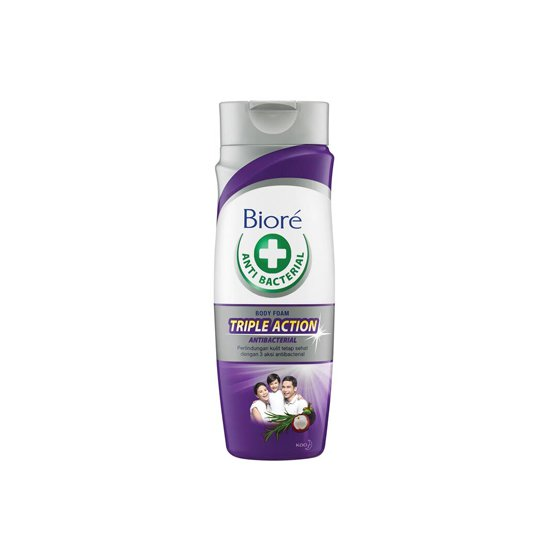 BIORE ANTIBACTERIAL TRIPLE ACTION BODY FOAM 220 ML