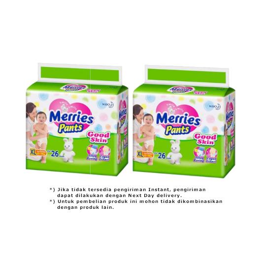 Merries Pants Good Skin XL26 2 Pack - Lebih Hemat