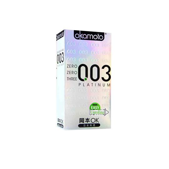 KONDOM OKAMOTO 003 PLATINUM 10'S