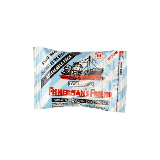 FISHERMAN'S FRIEND BIRU PUTIH SUGAR FREE