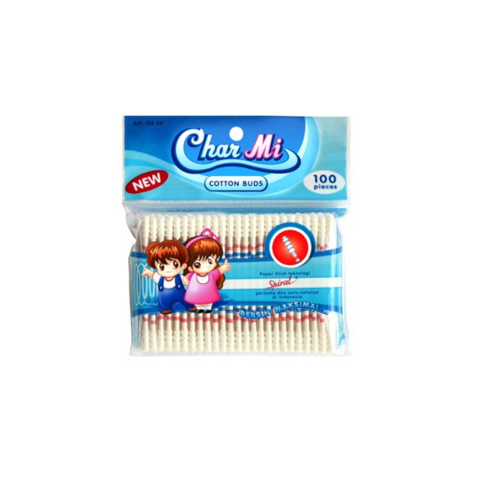 CHAR MI COTTON BUDS SPIRAL ART 126 SP 100 PIECES