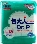 DR P ADULT DIAPERS BASIC L 13'S