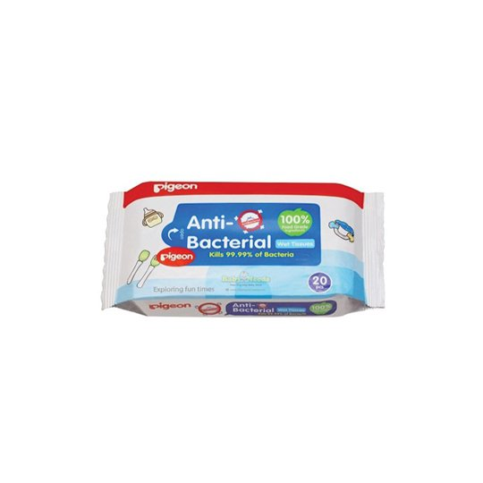 PIGEON BABY WIPES ANTI BACTERIAL TISSUE 20'S