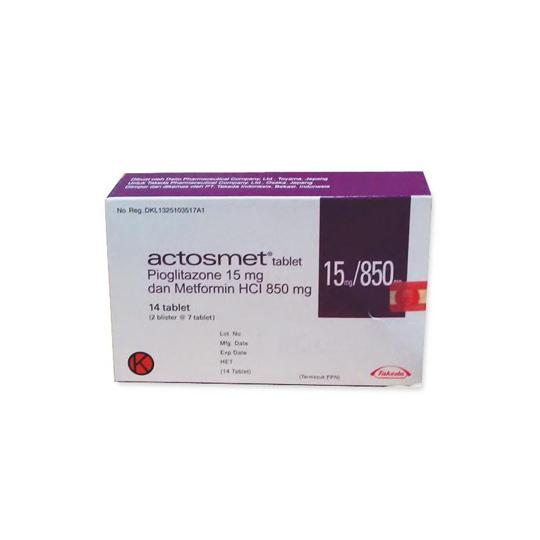 ACTOSMET 15/850 MG 7 TABLET