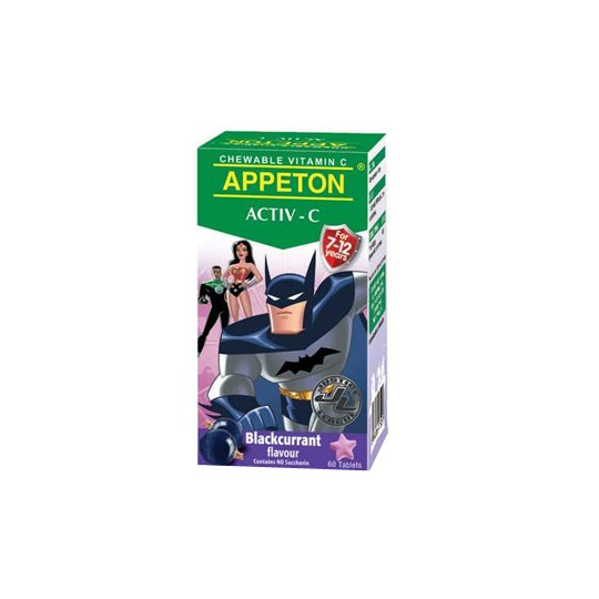 APPETON ACTIV-C 100 MG BLACKCURRANT 60 TABLET