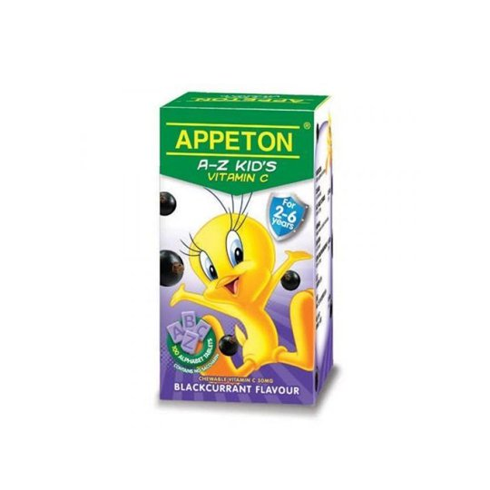 APPETON A-Z KIDS TABLET 30 MG BLACKCURRANT