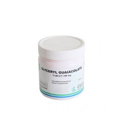 GLYCERYL GUAIACOLATE 100 MG 100 TABLET