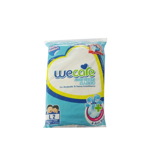 WE CARE ADULT DIAPERS L 2 PIECES