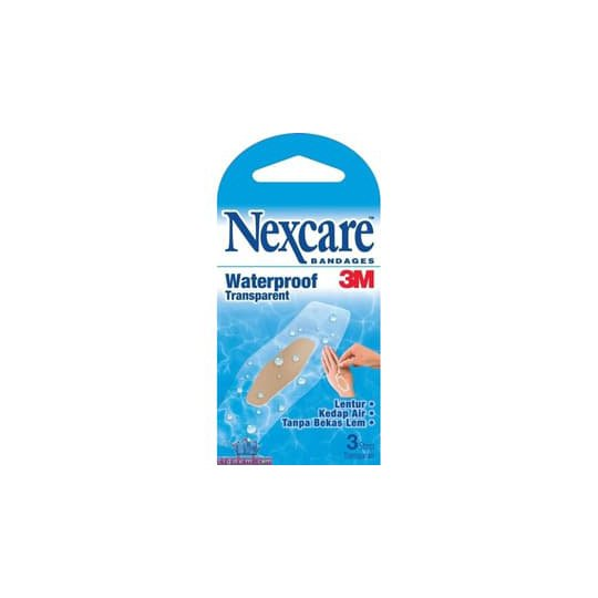 NEXCARE BANDAGES WATERPROOF TRANSPARENT 3'