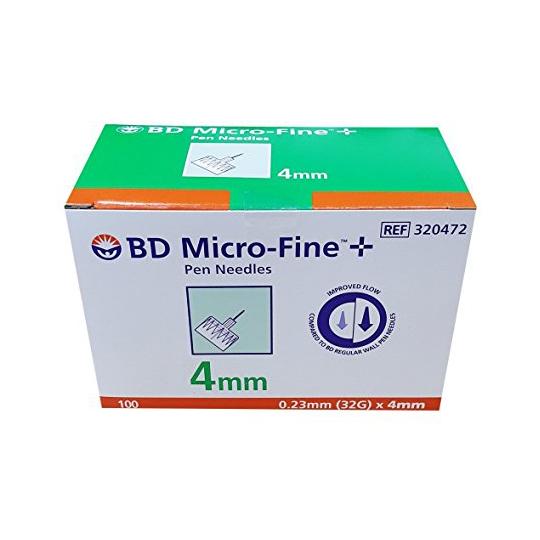 BD MICRO-FINE 4 MM 100'S