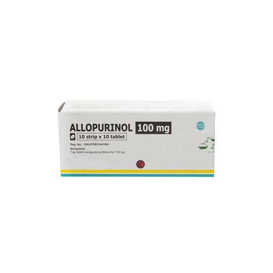 ALLOPURINOL 100 MG 10 TABLET