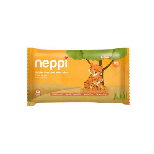 NEPPI BABY WIPES PARFUM 50 LEMBAR