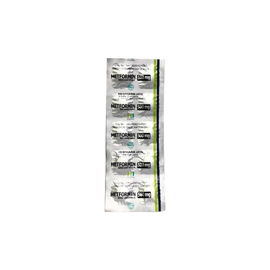 METFORMIN 500 MG 10 TABLET