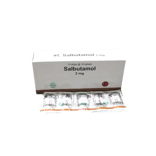 SALBUTAMOL 2 MG 10 TABLET