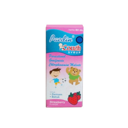 PACDIN COUGH RASA STRAWBERRY SIRUP 60 ML