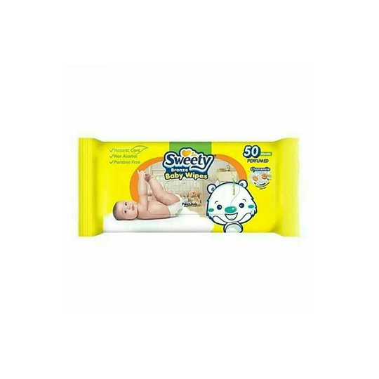 SWEETY BRONZE BABY WIPES 50 PIECES