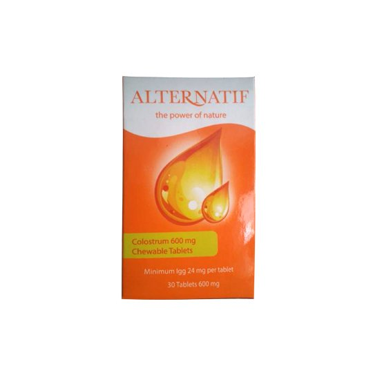 ALTERNATIF COLOSTRUM 600 MG 30 KAPLET