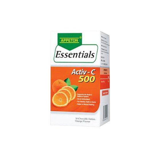 APPETON ESSENTIAL VITAMIN C ORANGE 500 MG 60'S