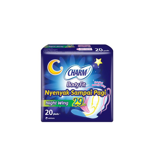 CHARM BODY FIT SUPER COMFORT NIGHT WING 20 PADS
