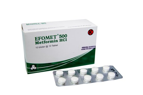 EFOMET 500 MG 10 TABLET