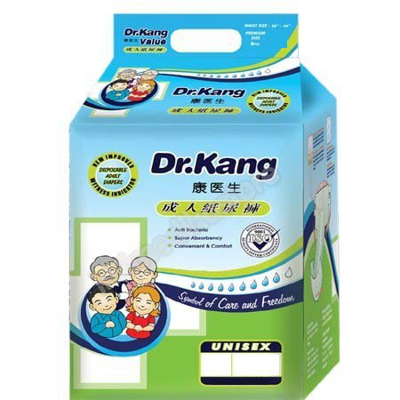 DR KANG DISP ADULT SIZE L DIAPERS 8'S