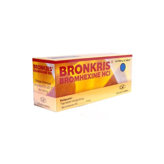 BRONKRIS 8 MG 10 TABLET