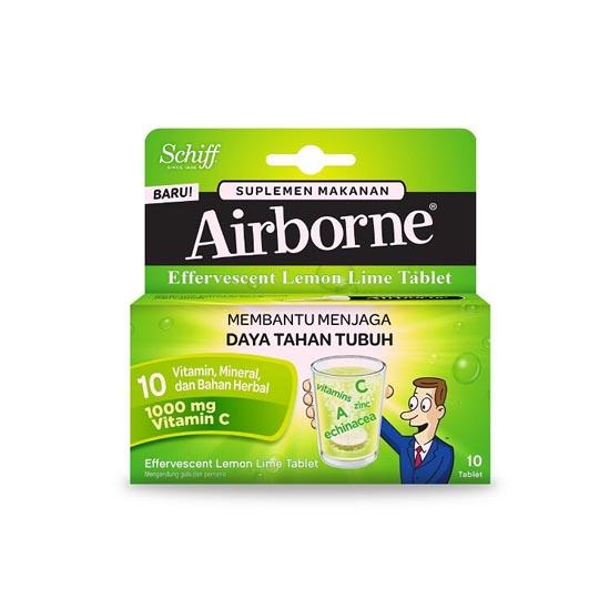 AIRBORNE EFFERVESCENT LEMON-LIME 10 TABLET