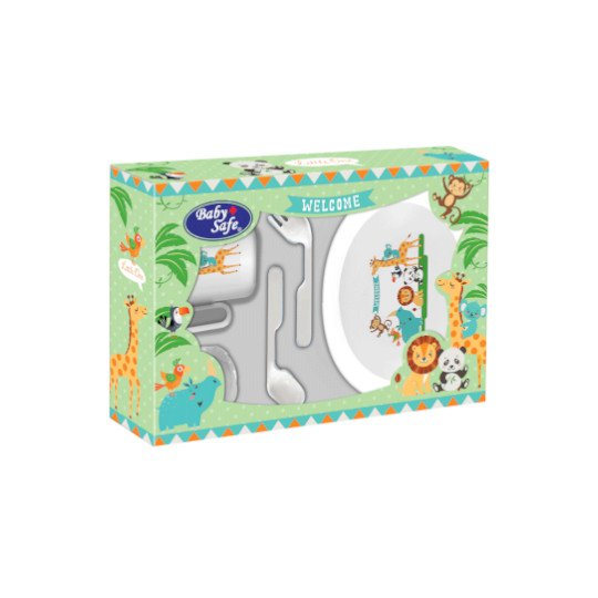 Baby Safe Small Feeding Set 5 Pieces With Plat Fs302