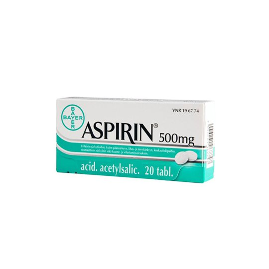 ASPIRIN BAYER 500 MG 10 TABLET