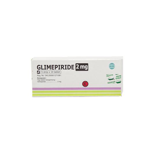 GLIMEPIRIDE 2 MG 10 TABLET