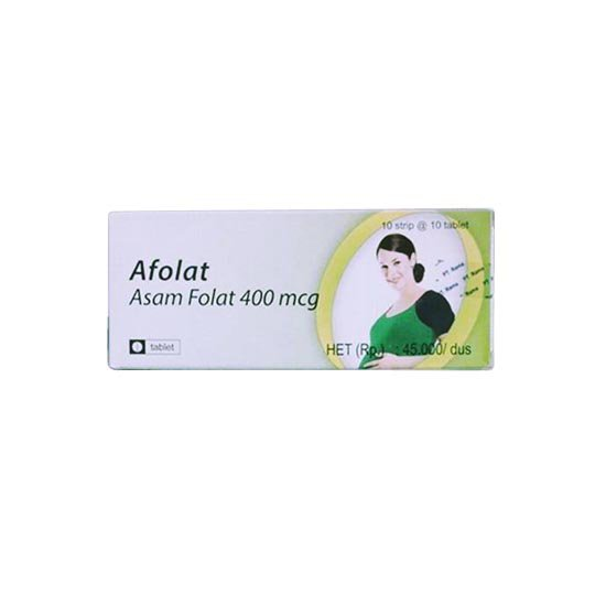 AFOLAT 400 MCG 10 TABLET