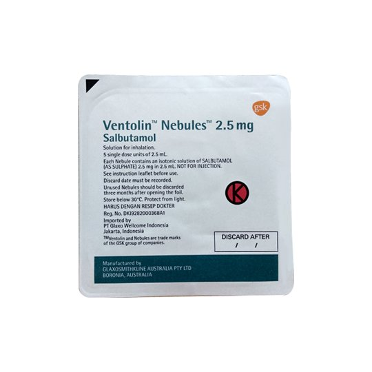 VENTOLIN NEBULES 2.5 MG 5'S