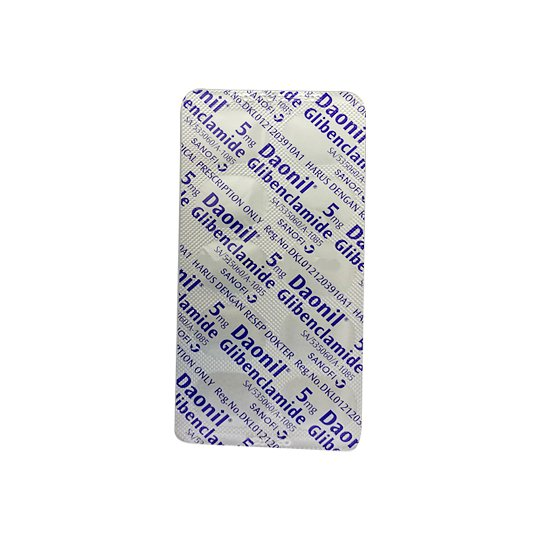 DAONIL 5 MG 10 TABLET