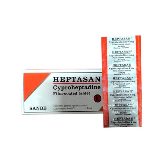 HEPTASAN 4 MG 10 TABLET