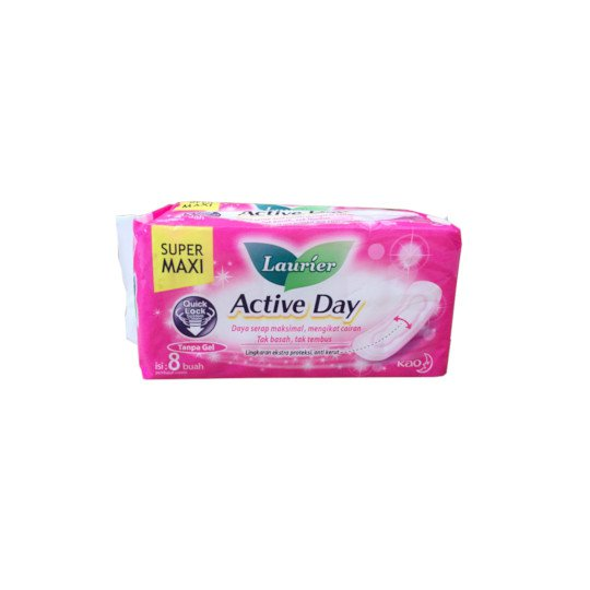 LAURIER ACTIVE DAY SUPER MAXI NON WING 8 PADS
