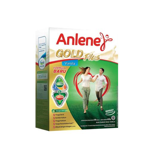 ANLENE GOLD PLUS RASA VANILA 650 G
