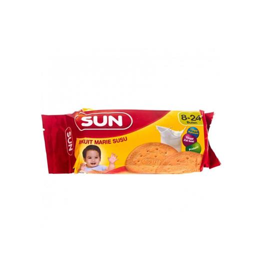Biskuitkemasan: SUN BISKUIT MARIE SUSU 150 G
